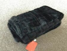 "Tourance Faux Fur Throw in Mink Black 62"" x 43"""