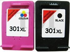 2 Cartuchos De Tinta Compatible 301 XL Para HP Envy 5530 Negro Color Non Oem 301
