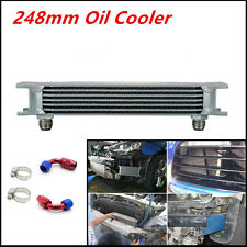 Universal Aluminum 7Row AN10 Engine Transmission 248mm Oil Cooler w/ Fitting Kit