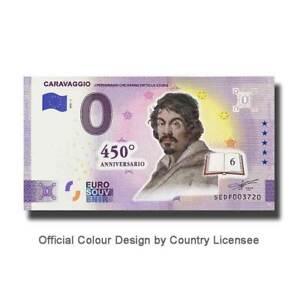 Billet Euro Souvenir SEDF 2021-1 Italie Caravaggio Couleur