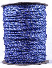Blue Camo - 550 Paracord Rope 7 strand Parachute Cord - 1000 Foot Spool