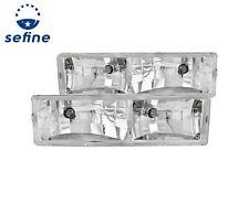 ANZO Chrome Crystal Headlights For Chevy / GMC TAHOE 95-99 / YUKON 92-99 #111004