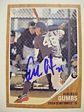 ANGELO GUMBS signed RC YANKEES 2011 Topps Heritage Minors baseball card AUTO 124