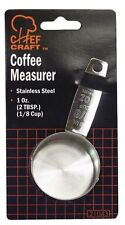 "(1) Chef Craft Stainless Steel Silver Coffee Scoop/ Measure Spoon 1/8"" #CC-21043"