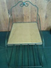Longaberger Wrought Iron Paper Tray Stand with wood insert Mint Condition
