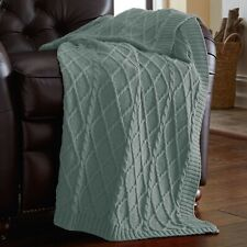 Amrapur Oversized Cable Diamond Knit Throw Blanket