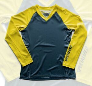 Specialized Andorra Long Sleeve Cycling Jersey Storm Gray / Ion Shuttle - Medium