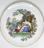 vintage china plate couple flute 9.25""