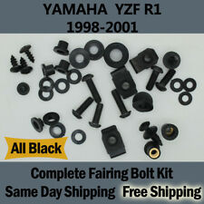 Complete Black Fairing Bolt Kit Body Screws for Yamaha 1998-2001 YZF R1 98 99 Fd