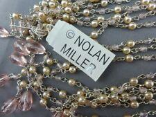 Nolan Miller SATURDAY NIGHT LARIAT Crystal Pink Briolette Lariat Necklace NWT