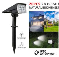 Spotlight 20 LED Solar Power Landscape Lawn Garden Wall Lamp Lights Waterproof