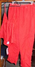 Sexy Red  Peekaboo See Thru Pajamas Lingerie Top & Pants 2 pc sz 2XL NWT