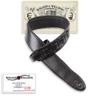 Walker & Williams G-26 Semi-Gloss Black Bullnose Padded Strap w/ Glovesoft Back