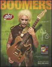 John 5 Signature Fender Telecaster GHS Guitar Strings ad 8 x 11 advertisement