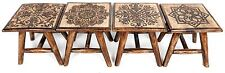Wooden Hand Carved Mango Wood Stool ~ Design Vary