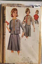 Simplicity pattern 5617 Juniors Skirt, Blouse & Jacket bust 31-1/2 size 11 uncut