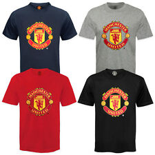 Manchester United FC Official Football Gift Kids Crest T-Shirt
