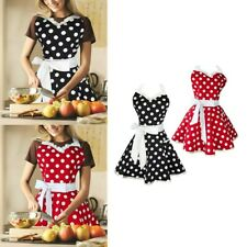 Sexy Polka Dot Apron for Women Cute Adjustable Cotton Christmas Party Dress
