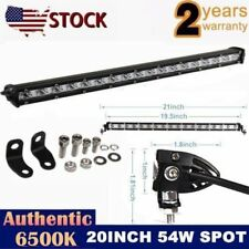 SLIM 20INCH 54W LED WORK LIGHT BAR SINGLE ROW DRIVING LAMP UTE ATV SUV UTE JEEP