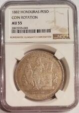 1 Peso Silver Honduras 1882 KM #47 NGC AU-55 POP=1/3 RRR!