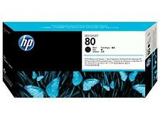 ORIGINAL & BOXED 2018 HP80 / C4820A BLACK PRINTHEAD + CLEANER - SWIFTLY POSTED