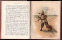 ROBINSON CRUSOE  Defoe in Englisch mit schönen Chromolithographien von 1880