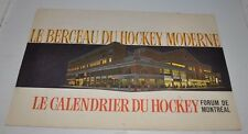 original FORUM MONTREAL 1964 Calendar MONTREAL CANADIENS HOCKEY