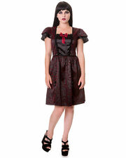 Polyester Square Neck Goth Dresses for Women
