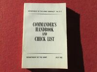 Commander's Handbook and Check List US Army Pamphlet  22-2 July 1952
