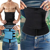 Men Women Neoprene Sweat Waist Belt Slimming Waist Trainer Trimmer Body Shaper