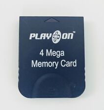 Play On 4 Mega Memory Card 4MB 59 Blocks Memory Pak for Nintendo GameCube