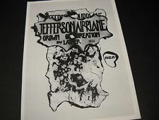 Jefferson Aiplane Rare 1968 Promo Poster Ad for Crown Of Creation and Lather