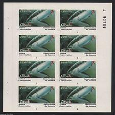 "1995 CANADA Salmon Conservation ""J"" Junior Fishing Full Stamp Sheet  NCSC-7J MNH"