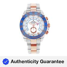 Rolex Yacht-Master II 116681 nuevas manos de acero 18K Oro Rosa Reloj Automático