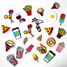 Embroidered Sew Iron On Patch Badge Fast Food Shape Hat Bag Applique Craft