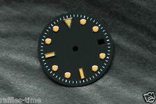 Plain Submariner Sub Watch Dial for ETA 2836 2824 movement Orange Lume Silver