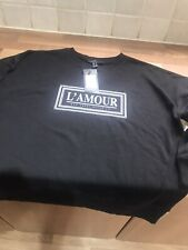 Ladies Lovely Black Sweat Top Uk Size 6 By New Look