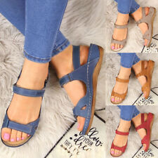 Fashion Women Premium Holiday Open Toe Sandals Summer Beach Casual Shoes Size