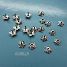 20PC Solid Sterling Silver 5mm (5.4mm) Flower Floral Bead Cap Spacer #33098
