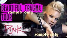 P!NK (PINK) beautiful trauma tour Iron On t-shirt Transfer 16x9cm WHITES ONLY