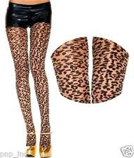 Nude/Black Animal Print Cheetah/Leopard Spots Cat Spandex Sheer Pantyhose Tights
