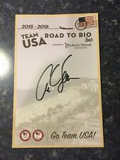 Carl Lewis Road To Rio Signed Auto Olympics Card