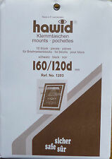 HAWID STAMP MOUNTS Block Size 160 x 120mm BLACK Pack of 10   - Ref. No.1203