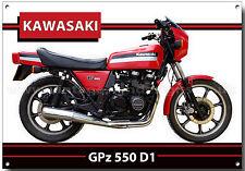 KAWASAKI GPZ550 DI MOTORCYCLE METAL SIGN.VINTAGE KAWASAKI MOTORCYCLES.ICONIC.