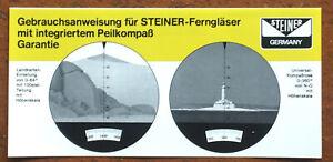 Steiner-Ferngläser mit integriertem Peilkompass  - Anleitung