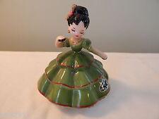 Vintage Josef Originals Green Dress Senorita Girl Figurine