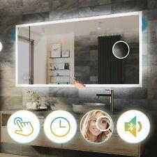 Miroir Salle de Bain Avec Éclairage LED Interrupteur | Horloge | Bluetooth | L01
