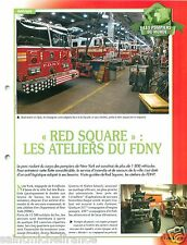 Red Square 1800 Vehicles New-York FDNY USA Sapeurs Pompiers FICHE FIREFIGHTER