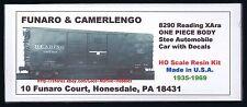 Funaro F&C 8290 READING  Automobile  RDG Steel XAra Auto Boxcar  1-PIECE BODY