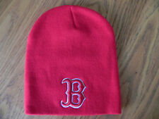 BOSTON RED SOX RED UNCUFFED MLB VINTAGE KNIT RETRO BEANIE CAP HAT NEW!